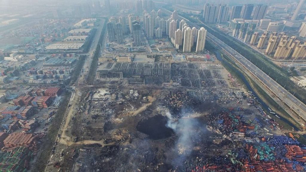 Explosions de Tianjin communication de crise