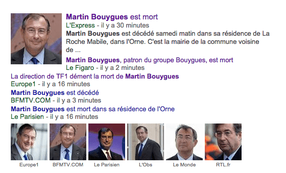AFP mort Bouygues